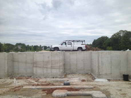 Poured concrete wall contractor appleton oshkosh green bay for Poured concrete basement walls